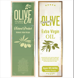 olive oil retro vintage background vector image