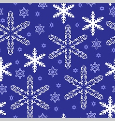 pattern gold snow blue vector image