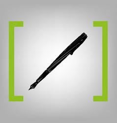 pen sign black scribble icon vector image
