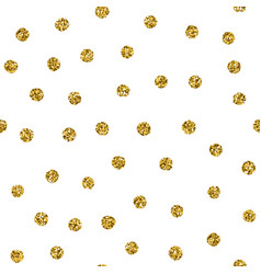 polka dot seamless pattern with gold glitter spot vector image