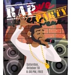 Rap Concert Poster vector