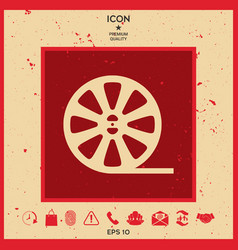 Reel film icon vector