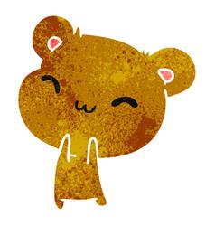 Retro cartoon kawaii cute hamster vector