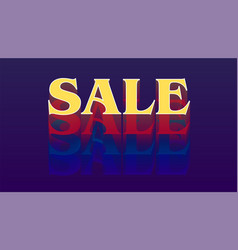 Sale text design in retro sixties years style vector
