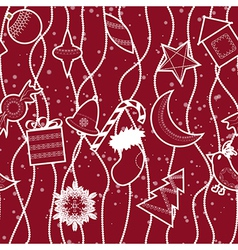 Seamless christmas pattern background vector image