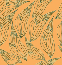 Seamless pattern with abstract leaves vector image