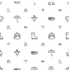 seasonal icons pattern seamless white background vector image