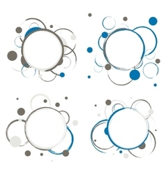 Set of Abstract Circles Badges vector image