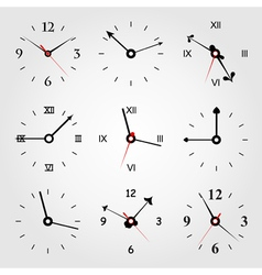 set of dials vector image