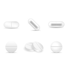 set of pills and drugs in any shapes and forms vector image