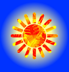 stencil of the sun vector image
