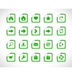stickers with web icons vector vector image