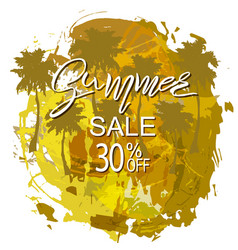 summer tropical background sale vector image