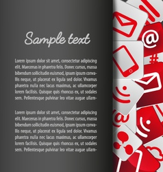 Template layout with icons background vector