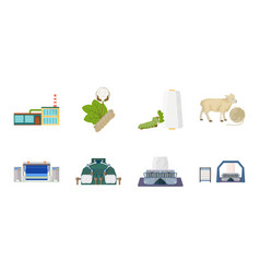 Textile industry icons in set collection for vector