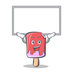 Up board ice cream character cartoon vector