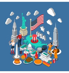 USA Concept Composition vector image