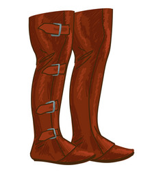 Vintage boots for men hunting footwear with clasp vector