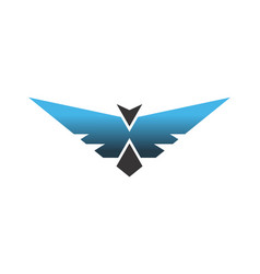 wings bird abstract logo icon vector image