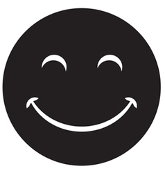 Black laughing happy smile vector image vector image