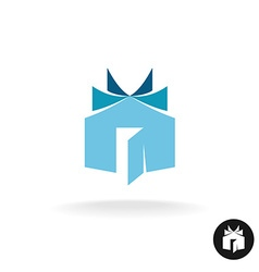 Books house idea logo template House building with vector image vector image