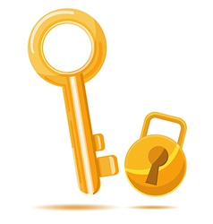 Gold Key Business icon cartoon vector image