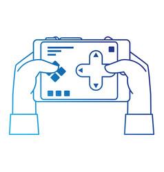 hand user with drone remote control icon vector image vector image