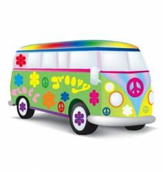 Hippie bus vector