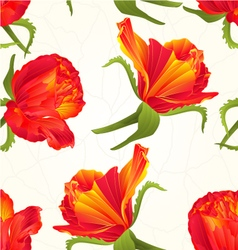 Seamless texture orange roses cracks vector image