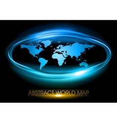 world abstract circle vector image