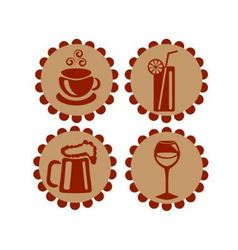 Icons featuring drinks vector image vector image