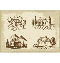 summer cottage vector image