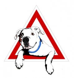 american bulldog on board vector image vector image