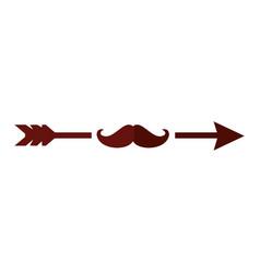 Arrow with mustache vector