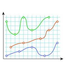Curve color chart vector