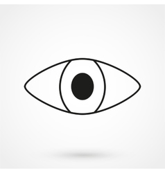 eye icon black on white background vector image