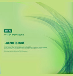 green nature background with leaves line vector image