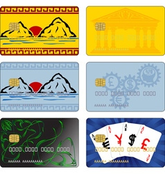 images for bank cards vector image