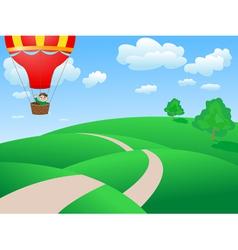 landscape balloon vector image vector image