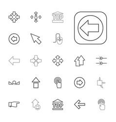 22 cursor icons vector