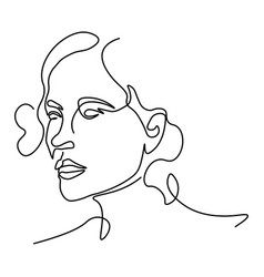 Abstract doodle sketch portrait female face vector