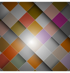 Abstract retro background - colorful squares vector