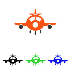 aircraft flat icon vector image
