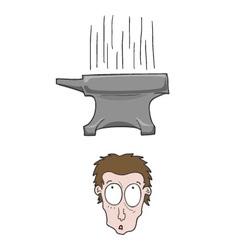 anvil falling vector image