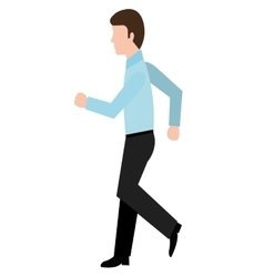 Avatar business man walking graphic vector