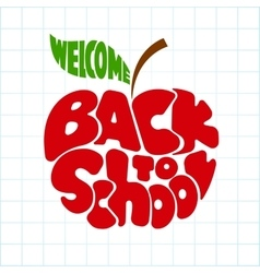 Back to school Lettering inscribed in the apple vector image