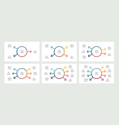 Business infographic organization chart with 3 4 vector