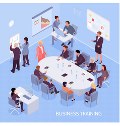 Business training isometric vector
