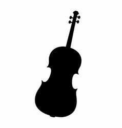 cello dark silhouette vector image