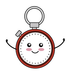 Chronometer device comic character vector